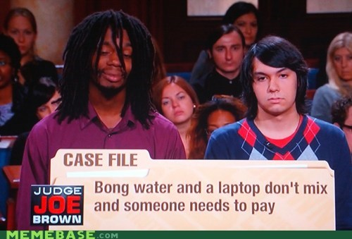 bong,drugs,judge joe brown,mary jane,TV
