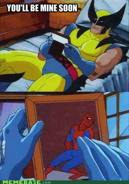sexy times Spider-Man wolverine - 6631902720