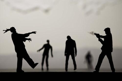 paper silhouette design nerdgasm zombie - 6631990272