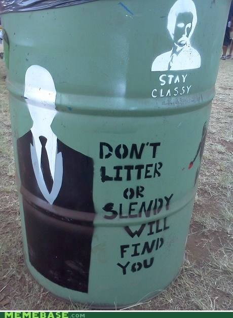 graffiti,slenderman,stay class slenderisco,stencil,trash