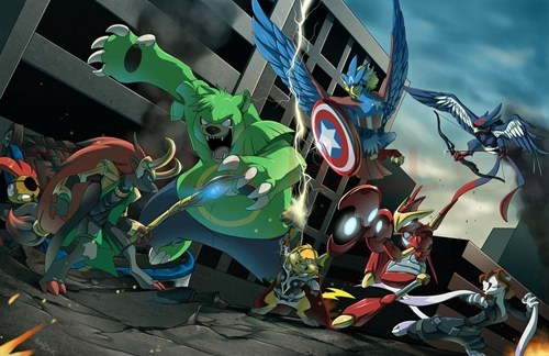crossover Pokémon superheroes The Avengers - 6632056576