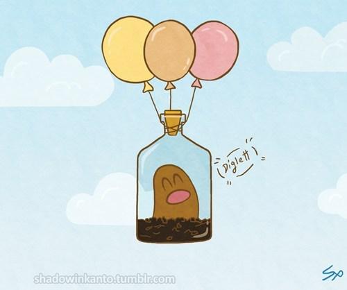 Balloons diglett diglett wednesday fly - 6632164096