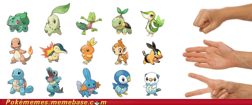 choose wisely fire grass starters water - 6632216064