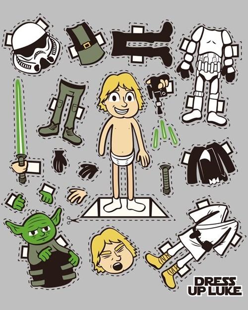 dress up Luke paper dolls star wars - 6632286208