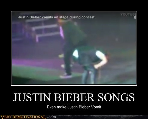 eww horrible music justin bieber vomit - 6632411904