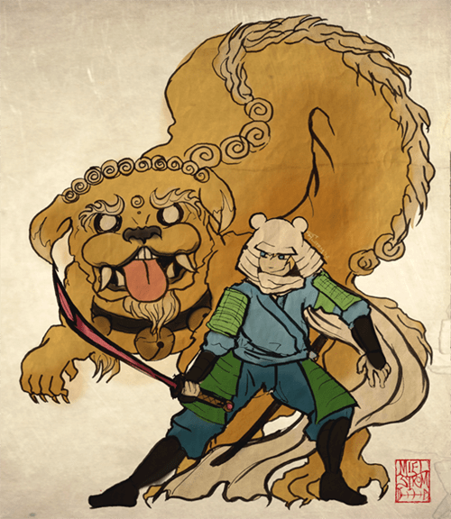adventure time dragon Fan Art finn Jake samurai - 6632460800