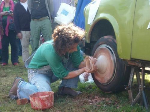 potter,pottery wheel,potter wheel,pottery