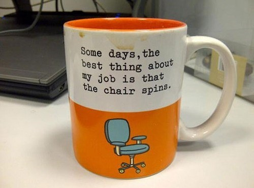 weee mug coffee mug office chair spinny chair spinning chair
