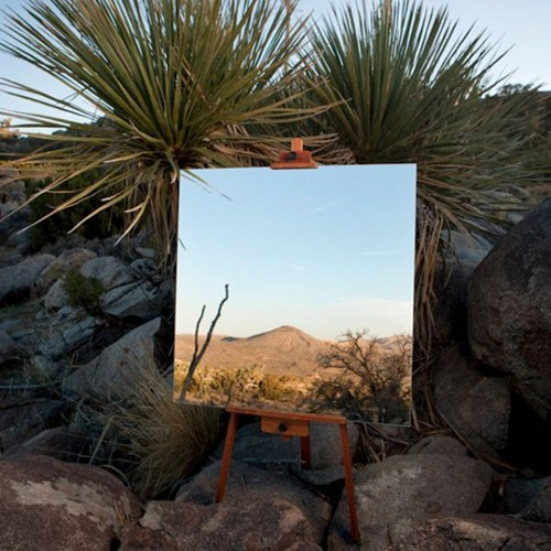 easel,mirror,landscape,painting