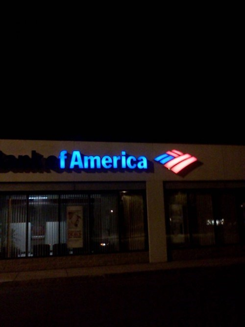 bank bank of america sign trufax troofax true facts - 6632620544