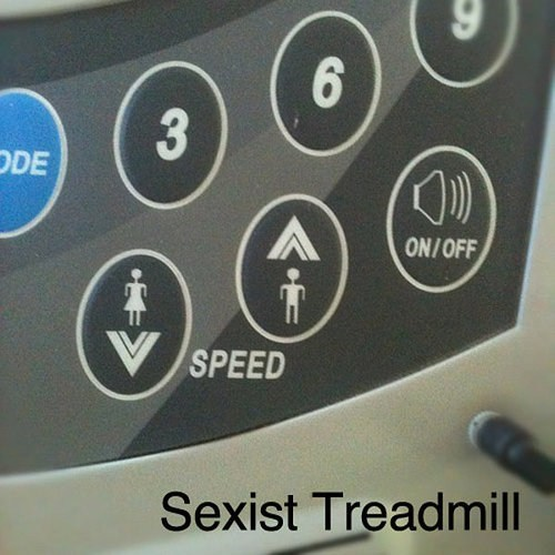 gym sexism speed treadmill workout