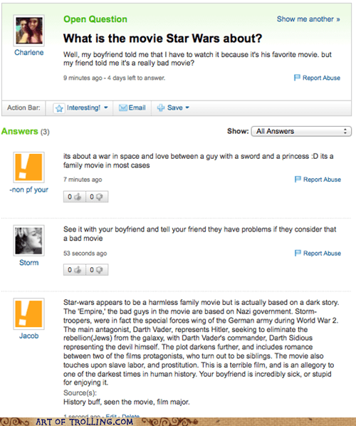 hitler,star wars,yahoo answers