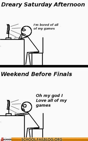common problem finals games procrastinating - 6633540608