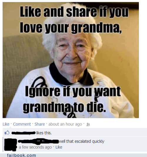 grandma,like and share,like this status