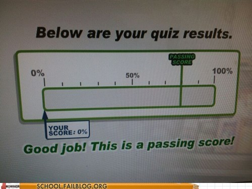 good job passing score quiz results sweet test humor