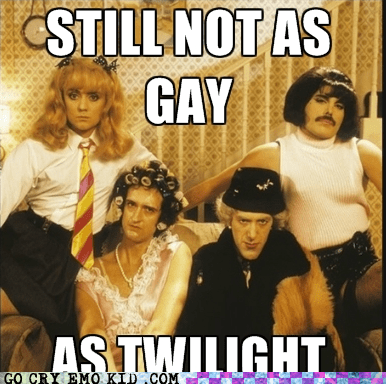 freddie mercury,not as gay as twilight,Music