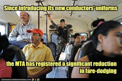 Since introducing its new conductors' uniforms the MTA has registered a significant reduction in fare-dodging