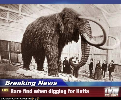 Breaking News - Rare find when digging for Hoffa