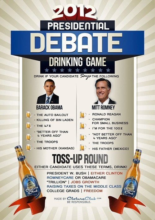 drinking game of the week,drinking games,presidential debate