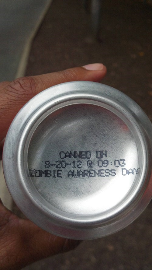 good to be aware,zombie awareness,cans
