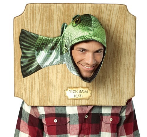 costume,halloween,bass,fish,hat,poorly dressed,g rated