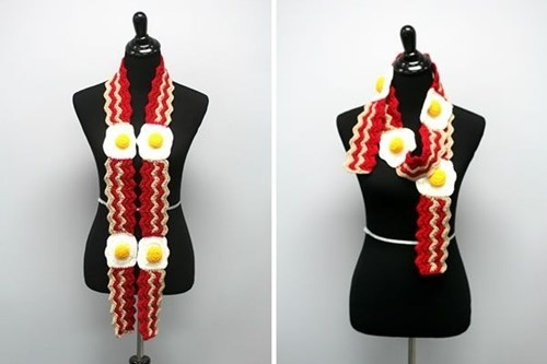 bacon and eggs,scarf