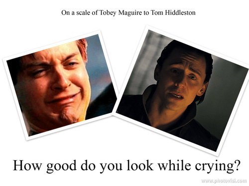 actor,celeb,funny,tobey maguire,tom hiddleston