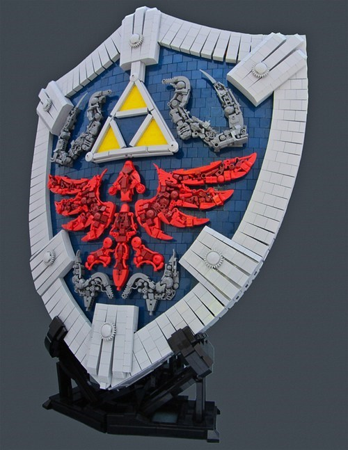 hylian shield hyrule link ocarina of time the legend of zelda zelda - 6635607040