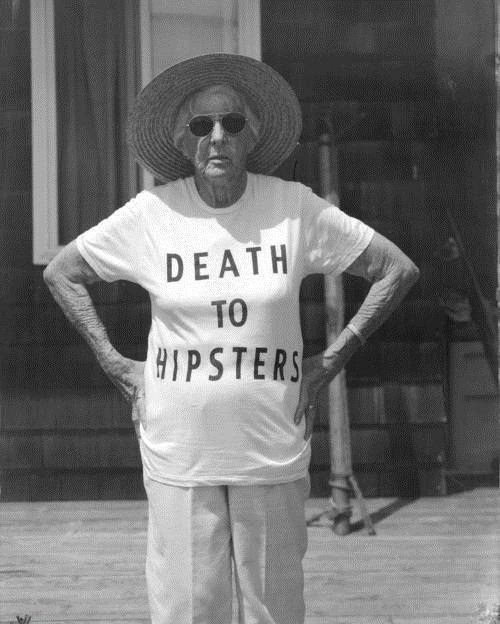 death to hipsters old lady t shirts
