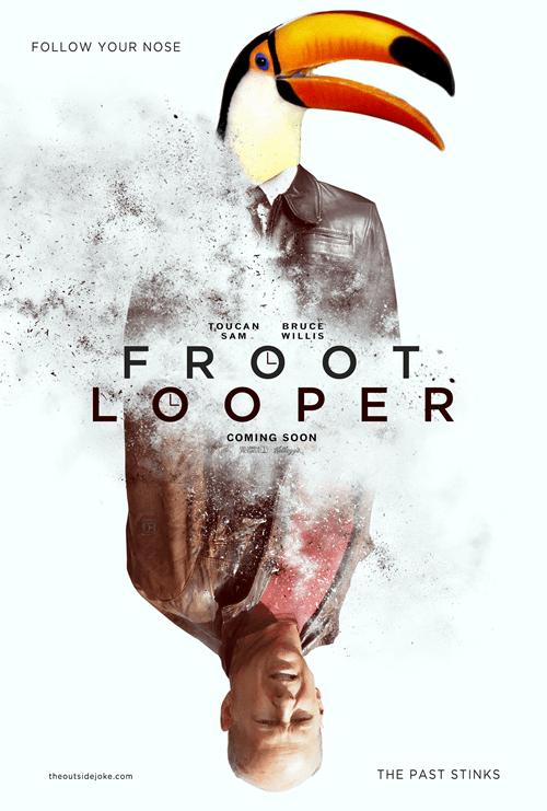 bruce willis cereal froot loops fruit loops juxtaposition looper Movie shoop toucan sam - 6635787520