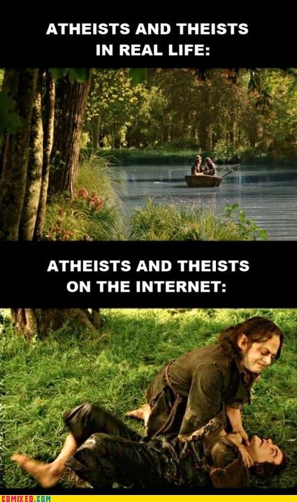atheists,flamewar,IRL,Lord of the Rings,Movie,religion