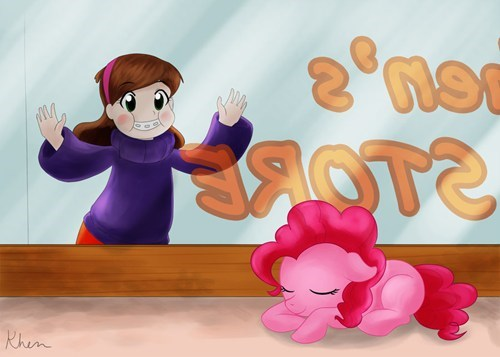 my little pony,Bronies,gravity falls,pinkie pie,crossover