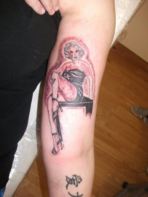 arm tattoos marilyn monroe