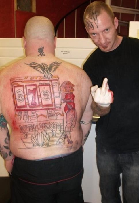 back tattoos,casino,slot machine