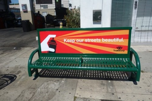 bench clever hacked irl Street Art
