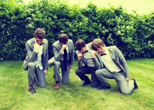 tebow pose groom Groomsmen silly - 6636418304