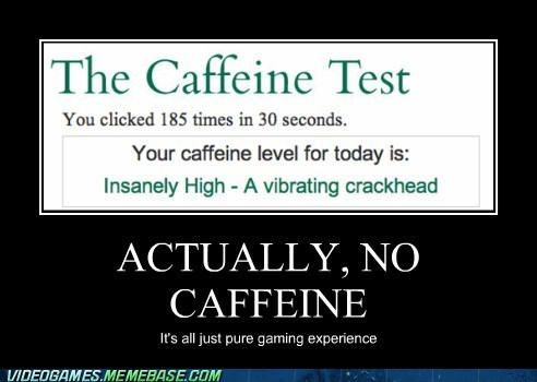 caffeine,click test,gamers