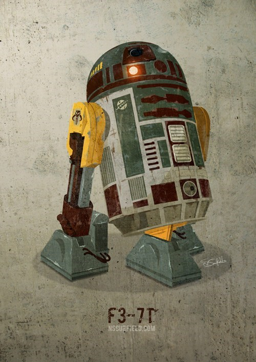 boba fett droid Fan Art mash up r2d2 star wars - 6636735744