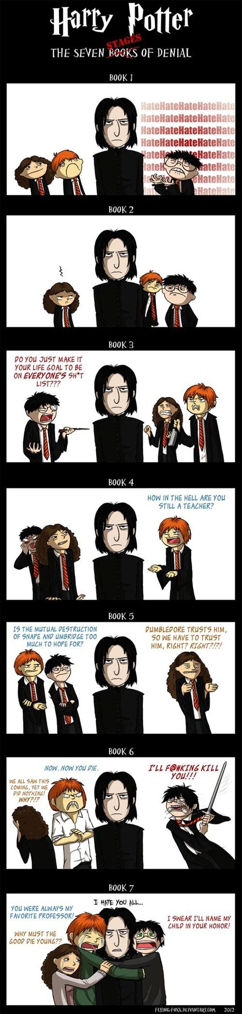 categoryvoting-page comic dumbledore Fan Art Harry Potter hate hermione granger Ron Weasley Severus Snape - 6636806656
