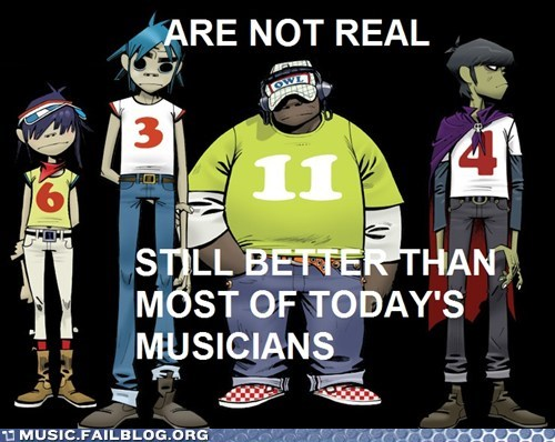 Gorillaz,cartoons