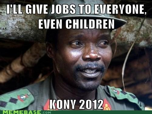 2012 children Debates jobs Kony