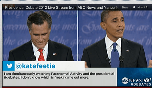 abc news,barack obama,Debates,Mitt Romney,paranormal activity,scary