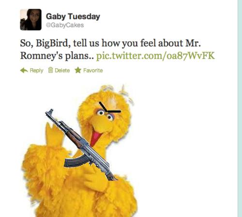 big bird Mitt Romney PBS - 6637032192