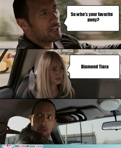 diamond tiara the rock meme Wrong Answer - 6637069312
