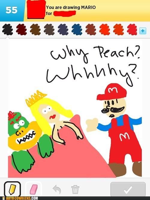 bowser draw something mario princess - 6637188608