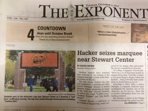 news newspaper billboard hack sign u mad troll face