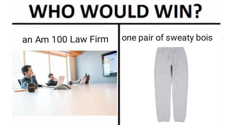 sweatpantsgate memes