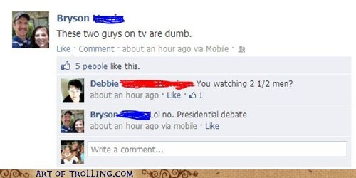 facebook,TV,presidential debates,politics