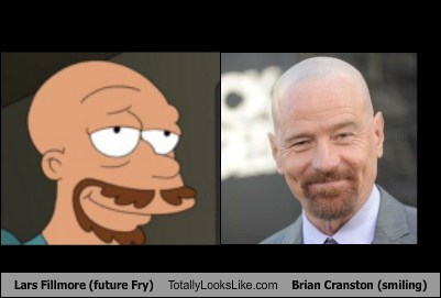 Lars Fillmore (future Fry) Totally Looks Like Brian Cranston (smiling)