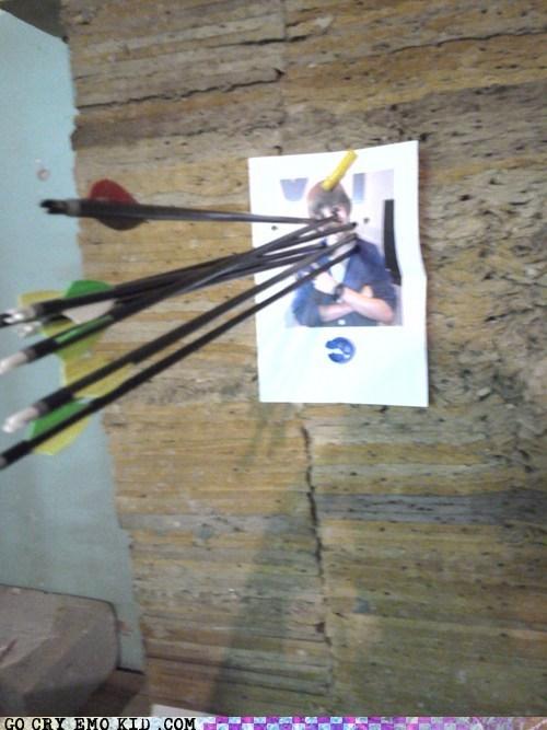 archery,face,justin bieber,Target